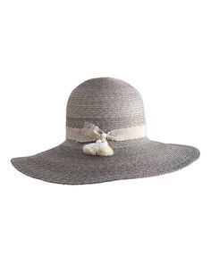 Yestadt Millinery Luna Wide-Brim Straw Hat