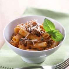 Mama's Amazing Ziti Using lean ground beef helps keep this pasta casserole low in fat and calories.