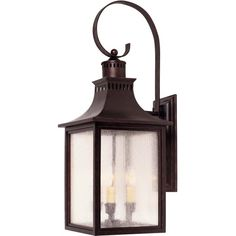 Savoy House Monte Grande Three Light 26-Inch Wall Mount Lantern - English Bronze - 5-259-13 featuring polyvore, home, lighting, wall lights, bronze lantern, bronze sconces, outdoor lighting, outdoor lamps and alabaster lamp