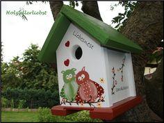 """Vogelhaus """"Eulenpaar """"individualisiert Hochzeit von Holzallerliebst auf DaWanda.com"""
