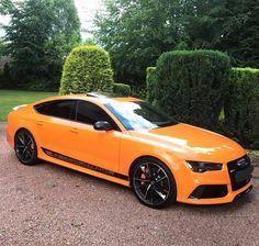 Orange Audi RS 7 Sportback