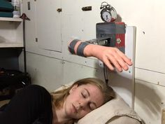 Face-slapping alarm clock refuses to let you sleep in
