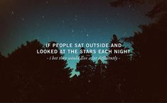 People and stars