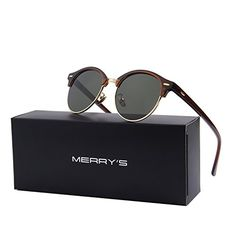 MERRYS Polarized Sunglasses for Men Women Semi Rimless Retro Brand Sun Glasses S8054 BrownGreen 56 * Find out more about the great product at the image link.