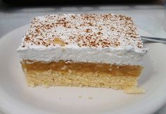 jablkový koláč - recipe in slovak language Slovak Recipes, Czech Recipes, Icebox Cake, Sweet Pie, No Bake Cake, Vanilla Cake, Sweet Recipes, Food Porn, Food And Drink