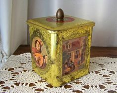 Antique Kitchen Tin Holland Shiny Bright by cynthiasattic on Etsy, $18.00