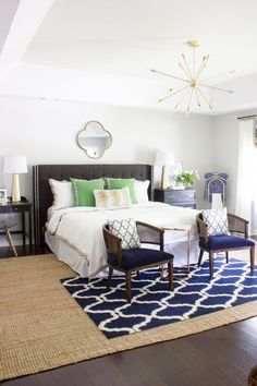 Master Bedroom Makeover Reveal: One Room Challenge - Erin Spain