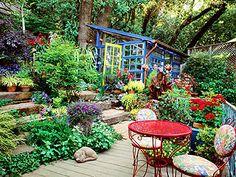 Adorable green house in the garden