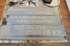 at the top of my to do list is to make signs for different rooms in my house!