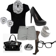 black&grey. replace the shorts w/slacks & i'd wear it.