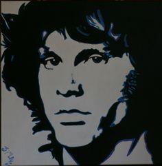 Jim Morrison - Acrilico 50x50 -  © STEFANIA MULE'