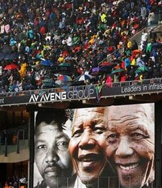 Scenes from the Nelson Mandela memorial service at FNB Stadium. (Ben Curtis, AP)
