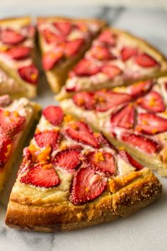 butter and brioche | Strawberry and Brown Sugar Brioche Tart | http://www.butterandbrioche.com