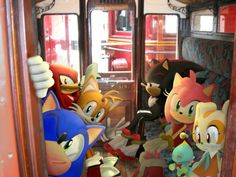 Sonic in a train to see Blaze and Marine