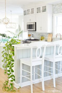 Spring Decorating Ideas - Coastal Kitchen