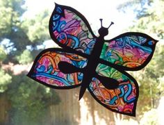 I've been thinking of doing a stained-glass window I think this will work.
