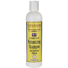 Swanson Icelandic Secret Volumizing Shampoo with Chitoclear 8.5 fl oz (250 ml) Liquid * You can find out more details at the link of the image.