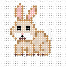 Bunny Rabbit Perler Bead Pattern