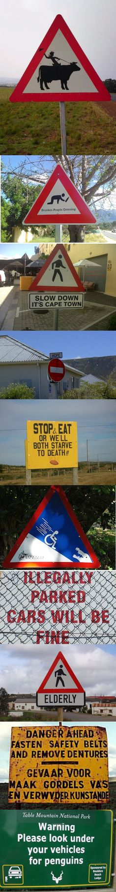 64 Ideas For Funny Signs Road South Africa Life Pictures, Funny Pictures, Funny Faces Quotes, Funny Road Signs, Marriage Jokes, South Afrika, The Beautiful Country, Beaches In The World, Most Beautiful Beaches