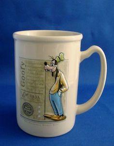 Walt Disney Original Goofy Guy Dippy Dawg Coffee Mug Raised Cartoon Character $28.99 OBO free shipping