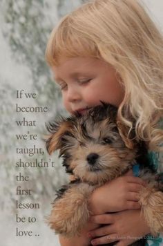 Little girl & yorkie