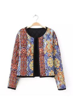Goodnight Macaroon BATIK QUILTED COTTON JACKET $69.00 USD