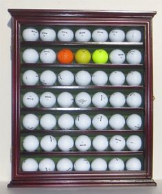 Beau 57 Golf Ball Display Case Cabinet Novelty Gift OAK Finish ** You Can Find  Out More Details At The Link Of The Image. | Sports U0026 Outdoors | Pinterest  ...