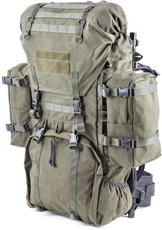 SAVOTTA Savotta LJK modular frame rucksack is designed for Finnish military forces and especially for paratroopers. LJK suites perfectly for professional use and for active hikers. 80 L and 3.9 kg.
