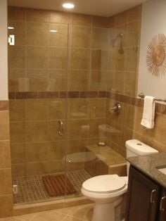 Walk in shower for a small bathroomshowers without doors or curtains   Walk in Shower   mediterranean  . Pics Of Walk In Showers. Home Design Ideas