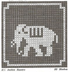 FREE animal cross stitch or filet crochet patterns!