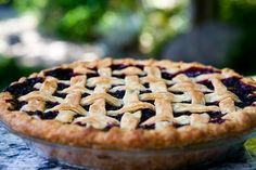 Blackberry Pie ~ The best blackberry pie ever. No kidding. All butter crust, loads of blackberries, spiced with a little lemon, cinnamon, and almond extract. Yum. ~ SimplyRecipes.com