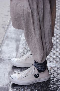 Black Comme de garcon heart street fashion blog