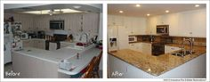 Before and after-Bobelmarie kitchen.
