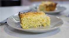 Give kugel an Italian twist with Pecorino, ricotta cheese and black pepper