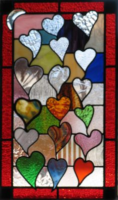 Stunning Stained Glass Hearts