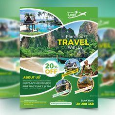 Travel flyer флаер flyer design inspiration, travel design и Travel Brochure Design, Travel Design, Flyer Design Inspiration, Banner Design, Layout Design, Promo Flyer, Newsletter Layout, Ecology Design, Graphic Design Posters