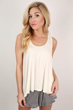 Cocktails At Sunset Swing Tank in Ivory