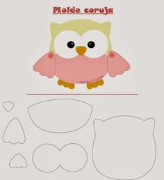 Friendly Felt: Template Owl Boutique D 'Caroline Owl Crafts, Diy And Crafts, Crafts For Kids, Paper Crafts, Paper Toys, Owl Patterns, Applique Patterns, Craft Patterns, Owl Applique