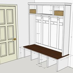 Mudroom Locker Plan Created By Sean Duggan Using Sketchup