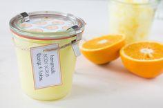 orange coconut scrub DIY