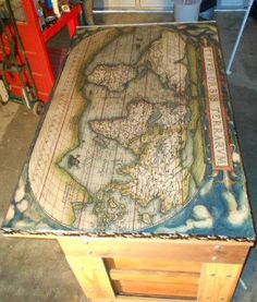 Open Hands artists create a bar made from three vintage doors with a cool world map on top. Learn how they did it HERE: http://bit.ly/1Exmr1J