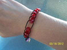 DIY sliding bead bracelet to keep track of daily exercise, water intake, and fruit and veggie servings.
