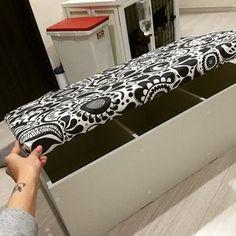 カラーボックスDIY★実用的でオシャレな収納ベンチ | Handful