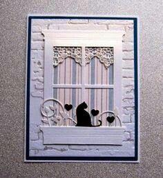 Cat in the window, any season
