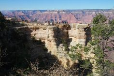 People at Mather Point Grand Canyon, November 14, 2012. Wow!
