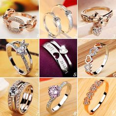 Which One is your Favorite #Rings #WeddingRing #EngagementRing