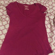 Shirt Maroon American Eagle Outfitters Tops