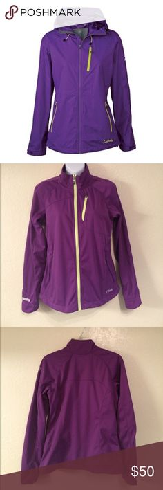 New Cabela's XPG Windstopper Jacket M Cabela's XPG Women's Soft-Shell Jacket with WindStopper  WindStopper laminate keeps chilly winds from robbing body heat Body is constructed of flexible polyester for increased stretch Raised collar increases coverage from the breeze Reverse-coil zippers on hand pockets and chest pocket Cabela's Jackets & Coats