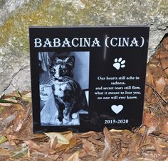 6x6 Personalize Memorial Stone,Customize it with your pets Picture Name and Date,Grave Marker,Headstone for your Pet,Dog,Cat,Horse,Fish