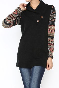 Wooden Button Sweater